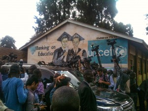 Arrival of Raila Odinga in Kibera