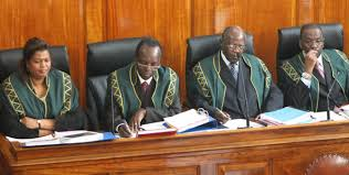 Supreme court judges during the pre-trial conference today