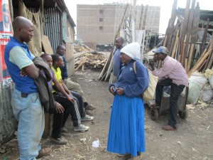 The confused elderly woman after being turned away by IEBC officials because she had the old generation ID.