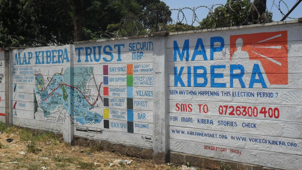 A complete painted along Kibera drive.